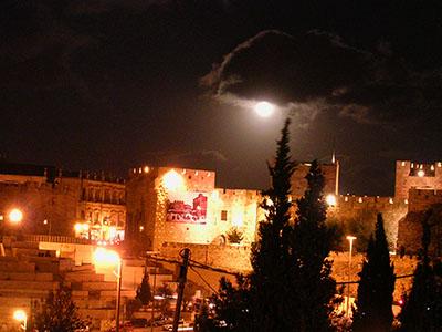 מגדל דוד בסיור לילי בירושלים